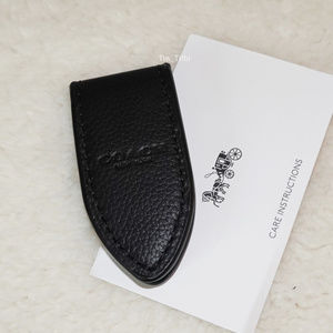 Coach Leather Money Clip